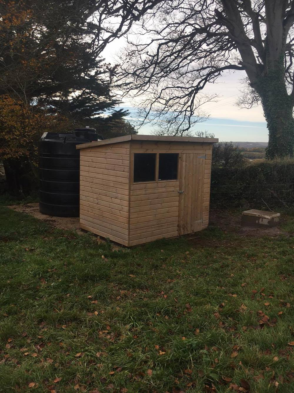 Installed in Garden Shed